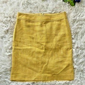 Vintage Talbots Linen Yellow Tweed Pencil Skirt